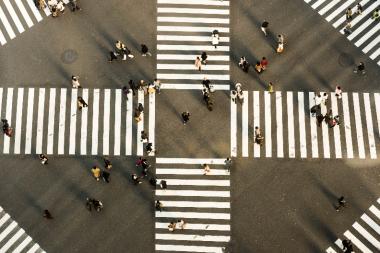Tokyo crossing street